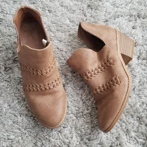 Universal Threads Brown Ankle Booties Size 7.5